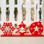 3PCs Snowflake Christmas Tree Star Clip Christmas Card Photo Holders