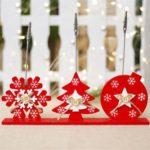 3PCs Snowflake Christmas Tree Star Clip Christmas Card Photo Holders