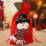 3pcs Solid Santa Clause / Snowman / Elk Pattern Christmas Burlap Gift Bag – 20 x 38cm