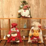 3pcs Solid Santa Clause / Snowman / Elk Pattern Christmas Burlap Gift Bag