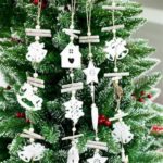 3PCs Wooden Christmas Tree Pendant Decoration