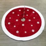 48 inch Home Decoration Mat Christmas Tree Skirt with Snowflake