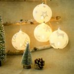 4PCS Ball Shape Hanging Christmas Tree Lights for Home Decoration