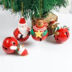 4PCs Santa Claus/Snowman/Bear/Reindeer Bells for Christmas Tree