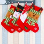 4PCs 38cm Bear / Snowman / Elk / Santa Claus Christmas Stockings – Red