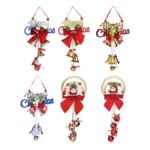 6pcs Cute Hanging Santa Claus with Bells Decor for Christmas Tree/Home/Bar – Random Delivery