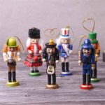 6PCs 13cm Wooden Christmas Nutcrackers – Scots Guard Baseball Player Music Band