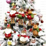 6Pcs/Pack Santa/Snowman/Elk Hanging Ornaments Christmas Tree Decoration
