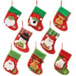 8PCs 16cm Mini Lovely Christmas Stockings Tree Decoration