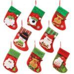8PCs Mini Lovely Christmas Socks Christmas Tree Decoration