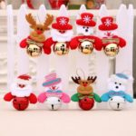 8PCs 11cm Santa/Snowman/Elk/Bear Bells Christmas Tree Ornaments