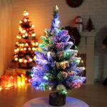 60cm Artificial Snow Dusted Christmas Tree with Color LED String Lights