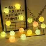 Battery Powered Colorful Crack Pattern 3m 20-LED String Light for Christmas Decoration
