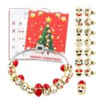 Christmas Advent Calendar Jewelry Set with DIY Charm Bracelet & Earrings