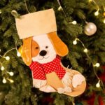 50cm Large Christmas Stocking Gift Bag – Puppy/Snowman/Snowflake