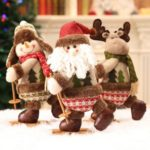 Christmas Plush Toy Santa Claus Snowman Reindeer Xmas Ornament