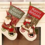 1PC 44cm Biking Santa Claus/Snowman Christmas Stocking