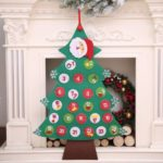 Christmas Tree Shape Hanging Advent Calendar Countdown to Christmas