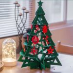 46.5cm Fabric Christmas Tree Ornament Desktop Decoration