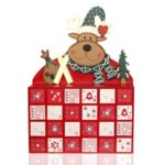 Creative Wooden MDF Christmas Elk Calendar Mini Cabinet for Decor