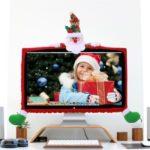 Cute Christmas 3D Cartoon Figure Non-woven Fiber Case/Cover for Computer Displayer Decor