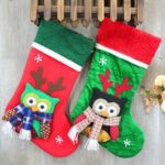 Cute Christmas Decoration Hanging Owl Stocking