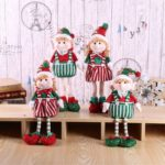 1PC 42cm Boy / Girl Christmas Elf Doll Plush Stuffed Toy Party Decoration