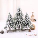 25cm 3 in 1 Artificial Flocked Christmas Tree Cedar Tree Home Decoration