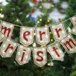 Burlap Merry Christmas Letter Print Banner Decor