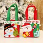 2PCs 16 x 23cm Fabric Santa Clause / Snowman Christmas Gift Bags
