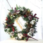 30cm Red Berries Pine Cone Artificial Christmas Wreath