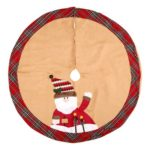 Santa Clause/Snowman Christmas Tree Skirt 105cm in Diameter