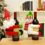 Santa/Snowman Hug Wine Bottle Decoration Christmas Table Decoration