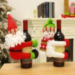 1PC Santa Claus/Snowman Hugger Christmas Wine Bottle Decoration