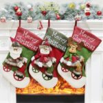 Santa/Snowman/Elk Design Christmas Stocking Gift Bag Hanging Ornaments