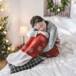 Snowflake Prints Christmas Sock Blanket Sleeping Bag