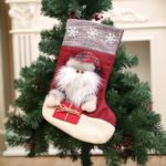 Solid Santa Clause / Snowman / Elk Christmas Stocking – 45 x 21cm
