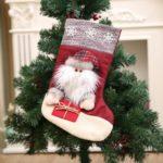Solid Santa Clause / Snowman / Elk Christmas Stocking – 45 x 21cm