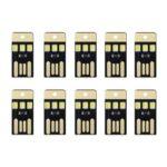 10Pcs USB LED Light Smart Touch Control Mini Flashlight
