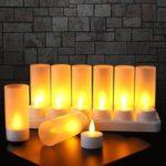 12Pcs/Set Rechargeable LED Color Changing Flickering Flameless Tealight Candles
