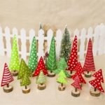 15PCs Fabric Christmas Tree Pendant Ornaments Tabletop Decoration