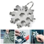 18 in 1 Multifunctional Stainless Steel Snowflake Shape Bottle Opener Screwdriver with Keychain