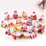 18Pcs/Pack Cute Animal Design Christmas Ornaments Miniatures Desktop Decor