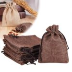 20Pcs Linen Gift Bag Jewelry Pouch Burlap Bags with Drawstring – Coconut Brown