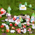 21pcs Festive Christmas Miniatures Tabletop Decors Ornaments