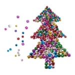 240Pcs/Set Assorted Colored Craft Christmas Bells for Decoration