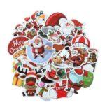 25PCs Merry Christmas 3D Cartoon Bubble Sticker Xmas Decor