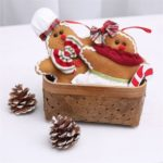 2pcs Assorted Gingerbread Man Christmas Tree Hanging Ornament
