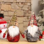 2PCs 35cm Swedish Santa Claus Dwarf Christmas Gnome Tomte Figurine Toy