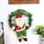 30cm Cute Santa/Snowman/Elk Christmas Rattan Wreath for Decoration